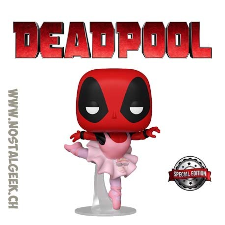 Funko Pop Marvel Ballerina Deadpool Exclusive Vinyl Figure