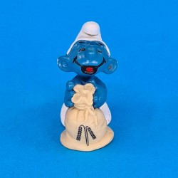 The Smurfs - Smurf with bag of wheat second hand Figure (Loose)
