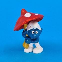 The Smurfs - Smurf with Mushroom Umbrella second hand Figure (Loose)