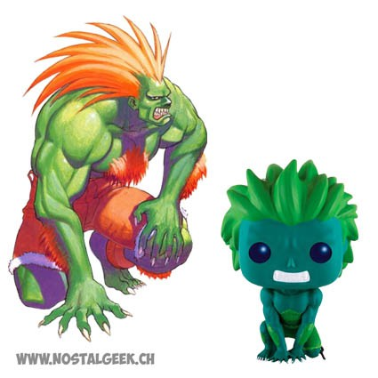 Toy Funko PopVideo Game Street Fighter Blanka Green Version