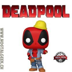 Funko Pop Marvel Construction Worker Deadpool Exclusive Vinyl Figure