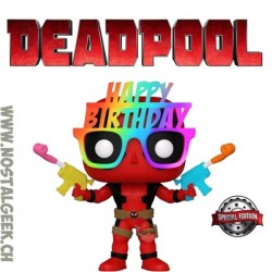 Funko Pop Marvel Birthday Glasses Deadpool Exclusive Vinyl Figure
