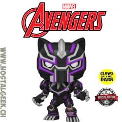 Funko Pop Marvel Avengers Mech Strike Black Panther (Mecha) (Glow in the Dark) Exclusive Vinyl Figure