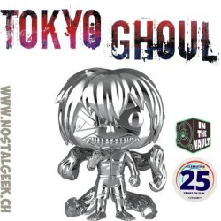Funko Pop! Manga Tokyo Ghoul Ken Kaneki (Silver Chrome) Exclusive Vinyl Figure Damaged Box