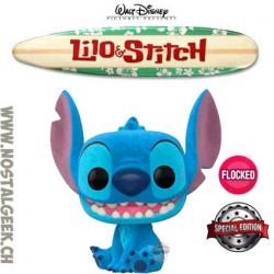 Funko Pop Disney Lilo & Stitch - Smiling Seated Stitch Flocked Exclusive Vinyl Figure