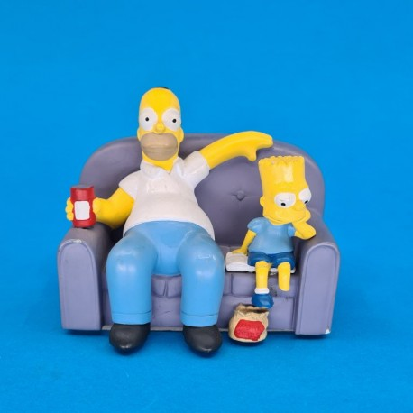 The Simpsons Homer & Bart Simpson on coach second hand figure (Loose)