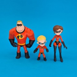 Disney The Incredibles Set of 3 second hand figures (Loose)