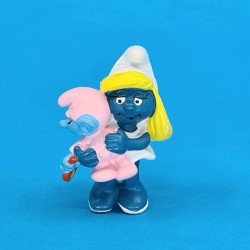 The Smurfs Smurfette with baby smurf second hand Figure (Loose)