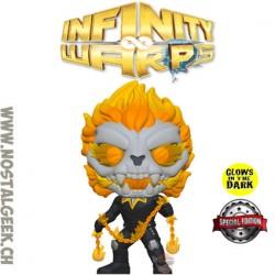 Funko Pop Marvel Infinity Warps Ghost Panther GITD Exclusive Vinyl Figure