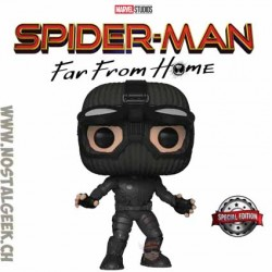 Funko Pop Marvel Spider-Man Far From Home Spider-Man (Stealth Suit, Goggles Up) Exclusive Vinyl Figure