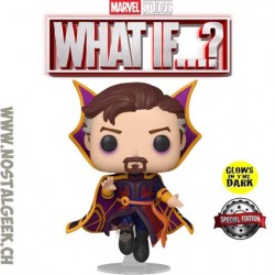 Funko Pop Marvel: What if...? Doctor Strange Supreme GITD Exclusive Vinyl Figure