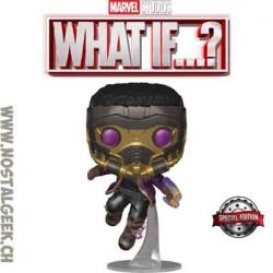 Funko Pop Marvel: What if...? T'Challa Star-Lord (Metallic) Exclusive Vinyl Figure