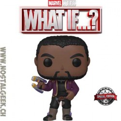 Funko Pop Marvel: What if...? T'Challa Star-Lord Unmasked Exclusive Vinyl Figure