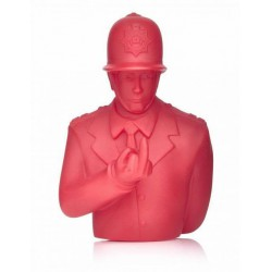 "Apologies to BANKSY Red Rude Copper 4"" Vinyl Figure UK graffiti artist policeman"