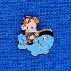 Le petit Spirou fishing second hand Pin (Loose)