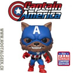 Funko Pop SDCC 2021 Marvel Capwolf Exclusive Vinyl Figure