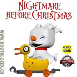 Funko Pop Disney Nightmare Before Christmas Zero in duck cart GITD Exclusive Vinyl Figure