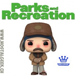Funko Pop Parks and Recration Ron with the Flu Exclusive Vinyl Figure
