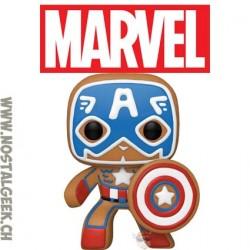 Funko Pop Marvel Holiday Gingerbread Captain America Vinyl Figure