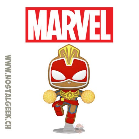 Funko Pop Marvel Holiday Gingerbread Captain Marvel Vinyl Figure