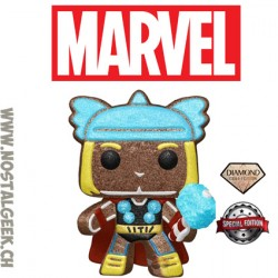 Funko Pop Marvel Holiday Gingerbread Thor Diamond collection Vinyl Figure