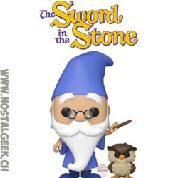 Funko Pop The Sword in the Stone Merlin with Archimedes Vinyl Figure