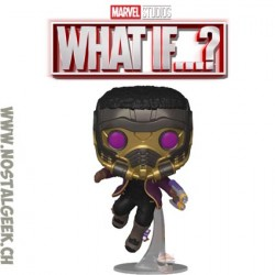 Funko Pop Marvel: What if...? T'Challa Star-Lord Vinyl Figure