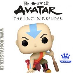 Funko Pop Avatar the last Airbender Aang Crouching (Metallic) Exclusive Vinyl Figure