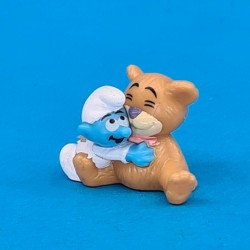 The Smurfs Baby Smurf with Teddy Bear second hand Figure (Loose)