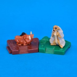 Disney Lion King Timon and Pumbaa second hand Figure (Loose) Bonux