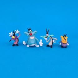 Oggy et les Cafards set of 4 second hand figures (Loose)
