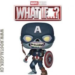 Funko Pop Marvel: What if...? Zombie Captain America Exclusive Vinyl Figure