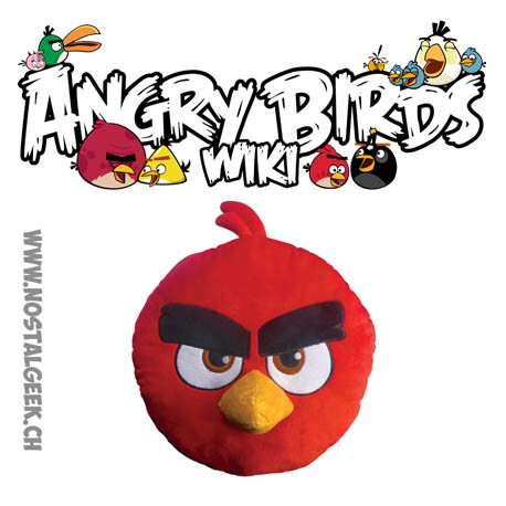 Peluches coussin angry birds rouge 3d geek suisse shop - Angry birds rouge ...