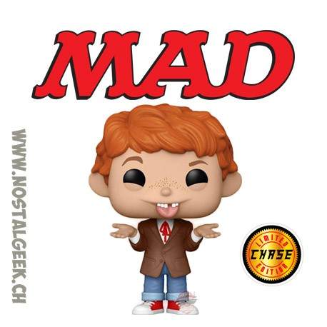 Funko Pop Icons MAD Magazine Alfred E. Neuman Chase Exclusive Vinyl Figure