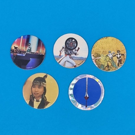 Power Rangers set of 5 second hand Pog (Loose)