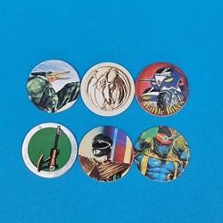 Power Rangers lot de 6 Pogs d'occasion (Loose).
