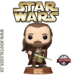 Funko Pop! Star Wars Qui-Gon Jinn (Tatooine) Edition Limitée