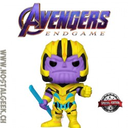 Funko Pop Marvel Avengers Endgame Thanos (Black Light) Edition Limitée