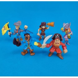 Scooby-Doo set of 5 second hand figure pirates (Loose)