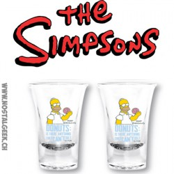 The Simpsons Shot Glass 2 piece set