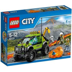 LEGO City - 60121- Jeu de construction - Le Camion d'Exploration du Volcan Bricks