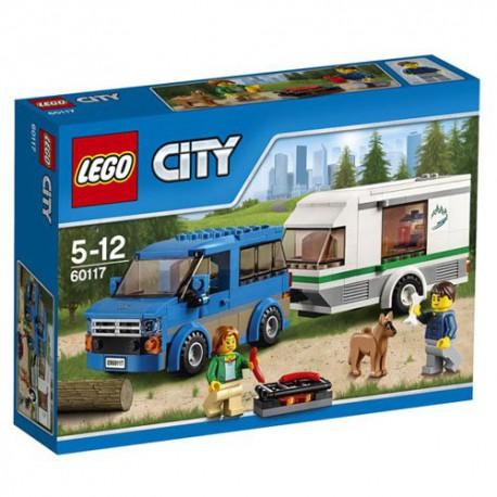 LEGO City - 60121- Jeu de construction - La Camionnette et sa Caravane Bricks