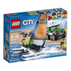 LEGO City - 60101 - Jeu de construction - Le 4x4 avec Catamaran Bricks
