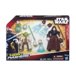 STAR WARS Hero Mashers Pack de Combat Emperor Palpatine Vs Yoda Action Figures