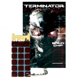 Terminator Genisys Endoskeleton Chip Keychain