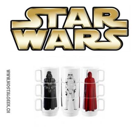 Star Wars Stacking Mugs 3 pieces set Darth Vader / Stormtrooper / Imperial Guard