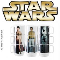 Star Wars Set de 3 Tasses empilables Slave Leia/Lando Calrissian / Han Solo dans la Carbonite