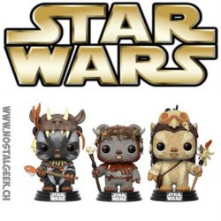 Funko Pop Star Wars Ewoks 3-pack Teebo, Chief Chirpa & Logray Edition Limitée