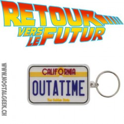 Back to the Future - Caoutchouc - License Plate Keychain