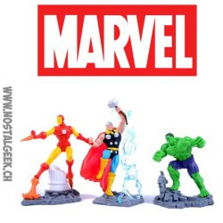 Marvel Collectible Diorama Iron Man - Thor - The Hulk Action Figure Set (Pack de 3)